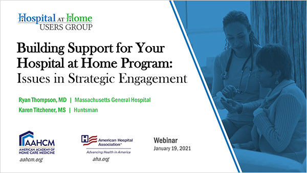 Cover of Building Support For Your Hospital At Home Program slides