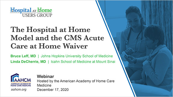 Cover of HAH and CMS Waiver Webinar slides