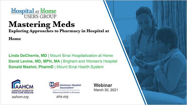Cover of Mastering Meds Webinar slides